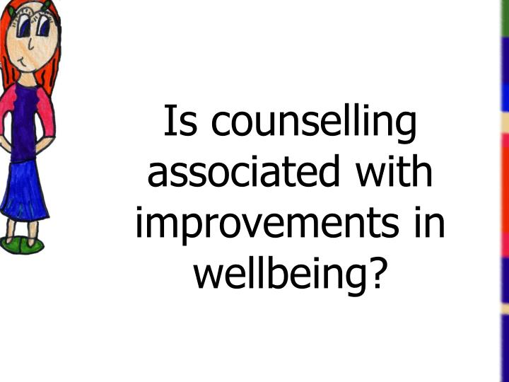 Is counselling associated with improvements in wellbeing?
