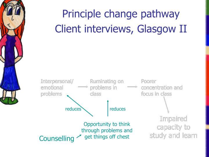 Principle change pathway