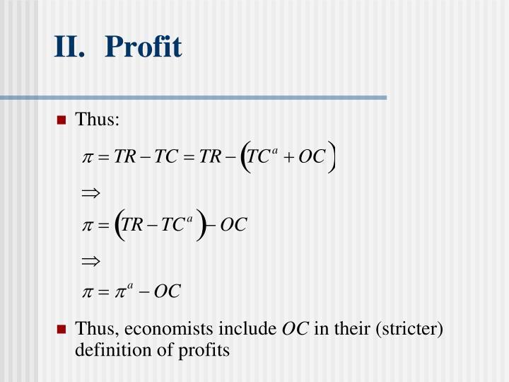 II.Profit