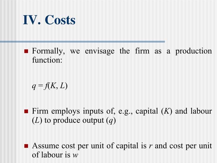 IV.Costs