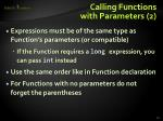 calling functions with parameters 2