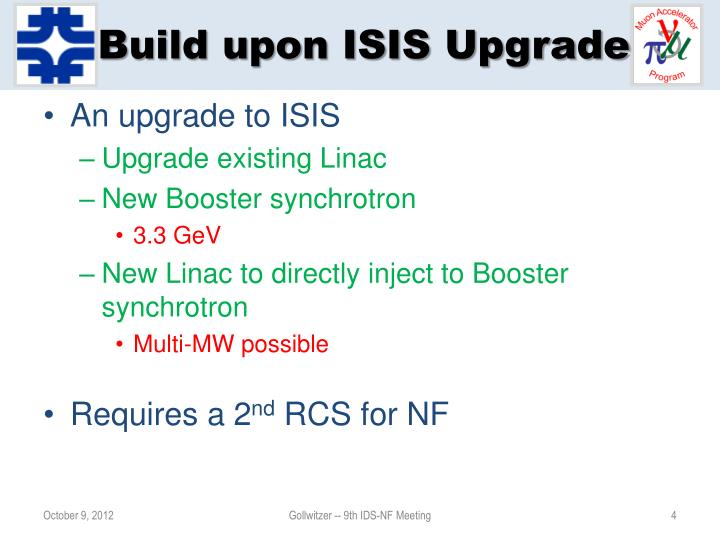 Build upon ISIS Upgrade