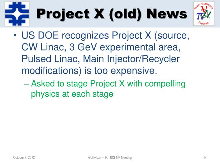 Project X (old) News