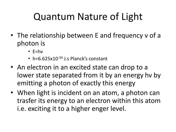 Quantum Nature of Light