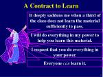 a contract to learn
