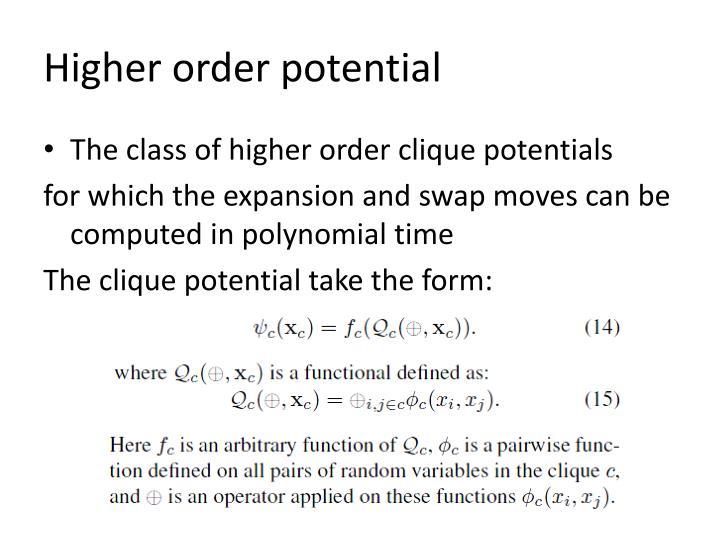Higher order potential
