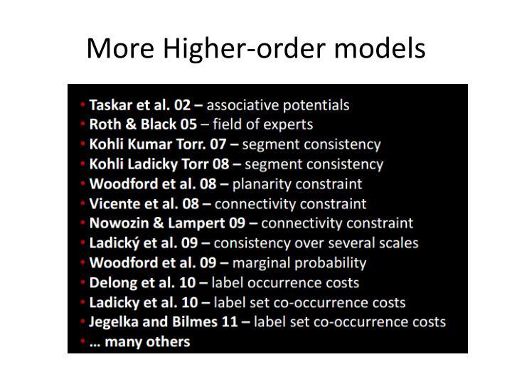 More Higher-order models