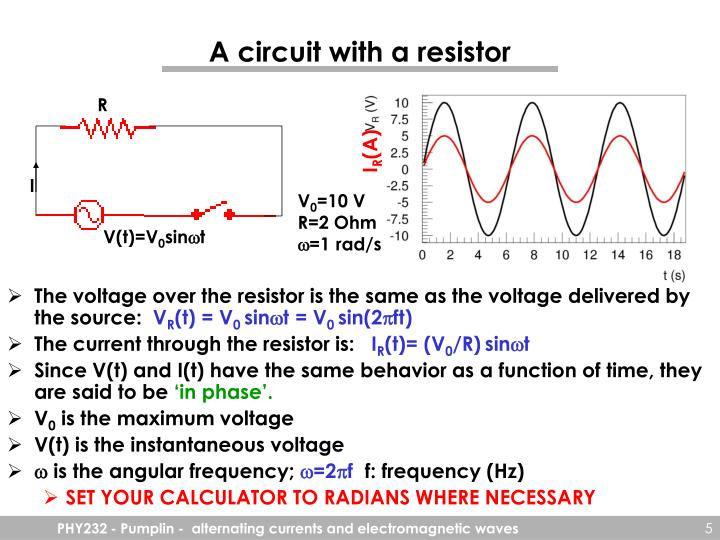 A circuit with a resistor