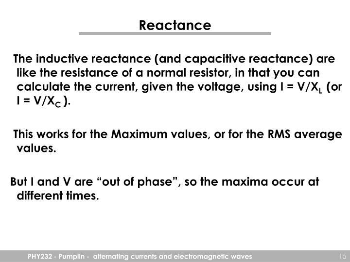 Reactance