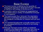 base excess1