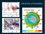 advection of anomalies