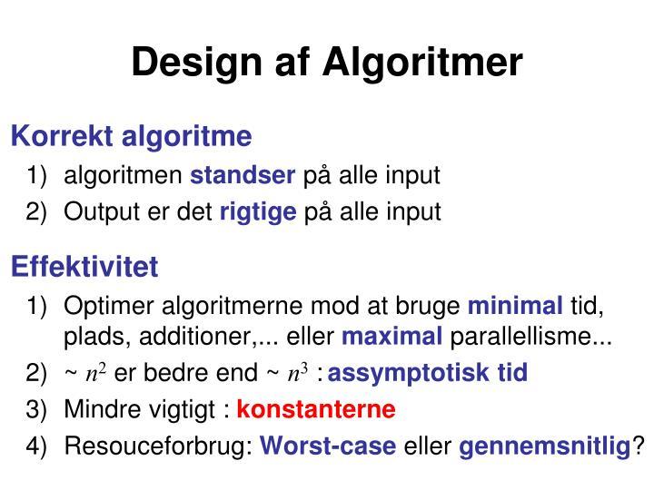 Design af algoritmer