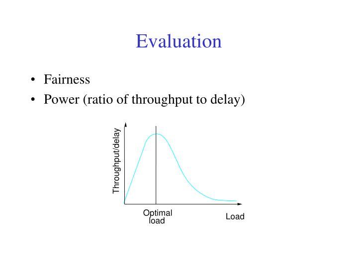 Throughput/delay