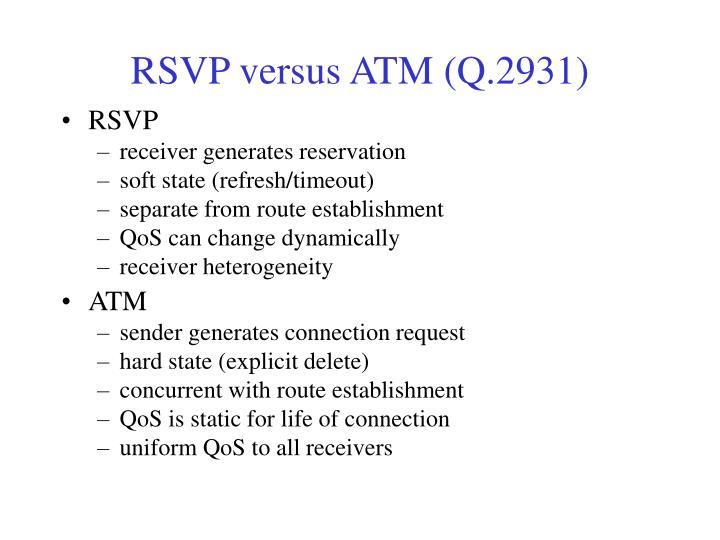 RSVP versus ATM (Q.2931)