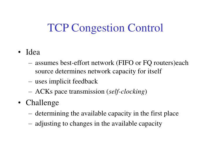 TCP Congestion Control