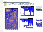ctwc of colon cancer data