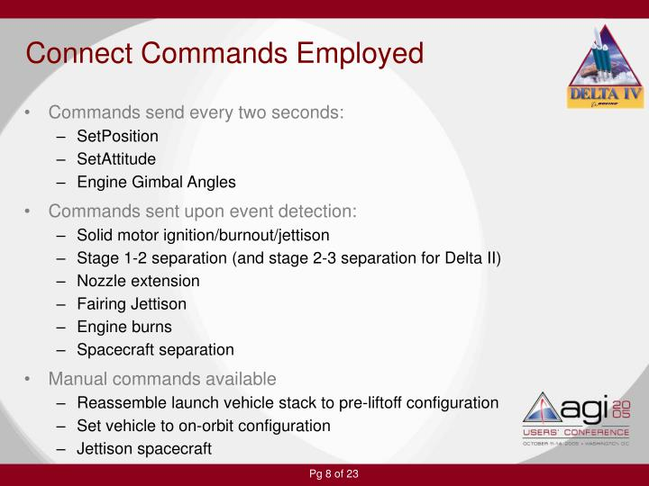 Connect Commands Employed