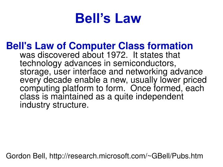 Bell s law