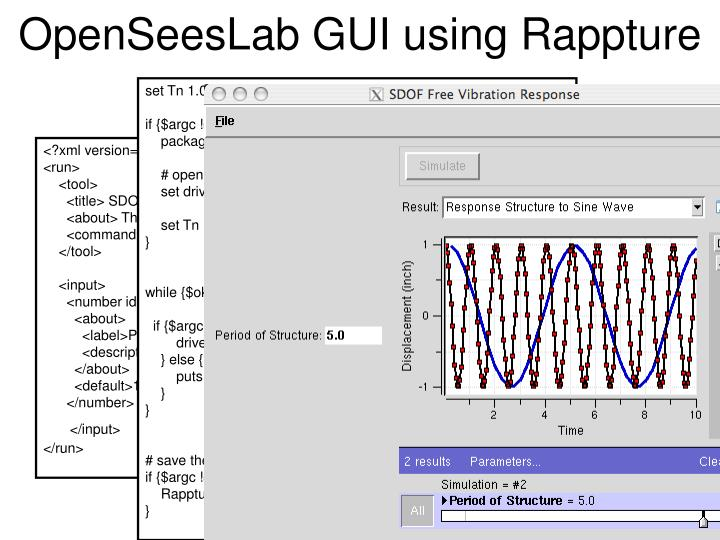 OpenSeesLab GUI using Rappture