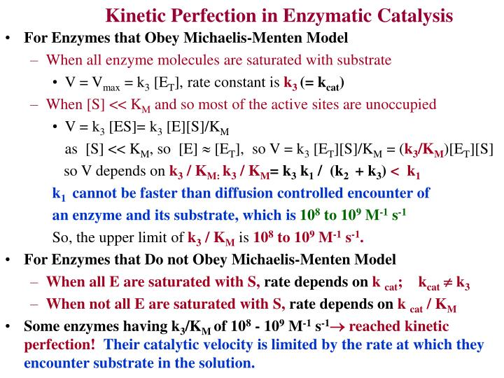 Kinetic Perfection in Enzymatic Catalysis