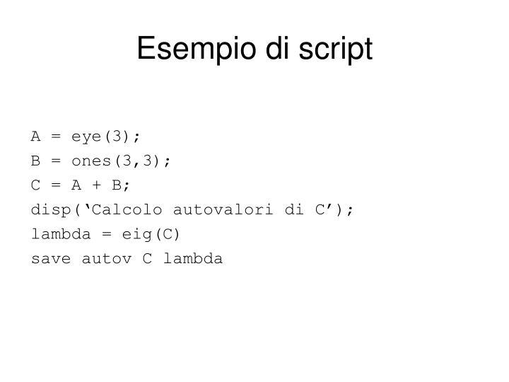 Esempio di script