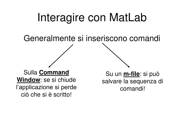 Interagire con MatLab