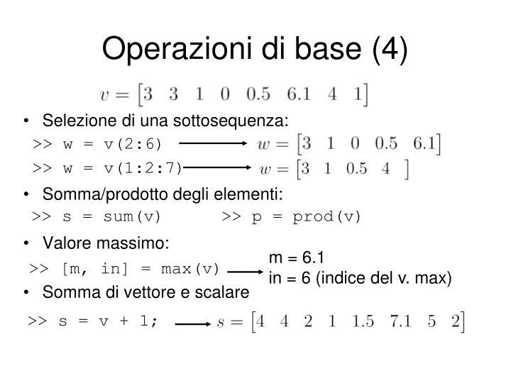Operazioni di base (4)