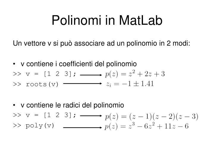 Polinomi in MatLab