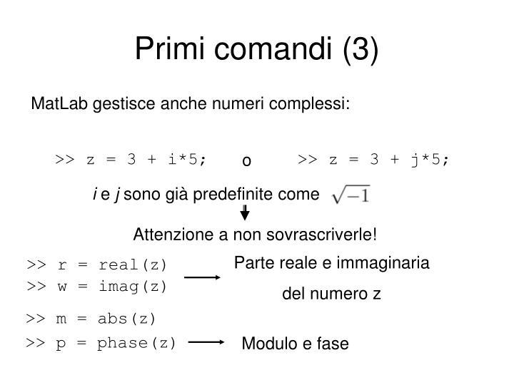 Primi comandi (3)