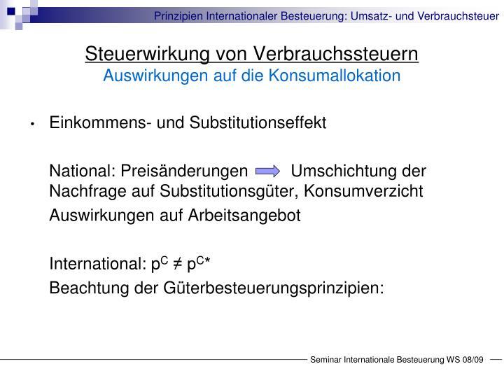 Einkommens- und Substitutionseffekt