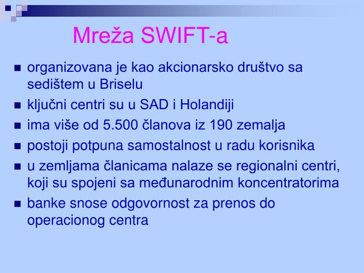 Mreža SWIFT-a