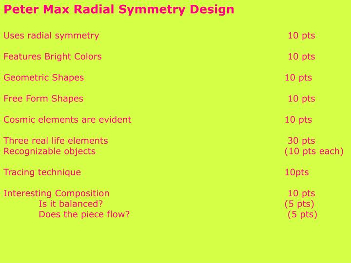Peter Max Radial Symmetry Design