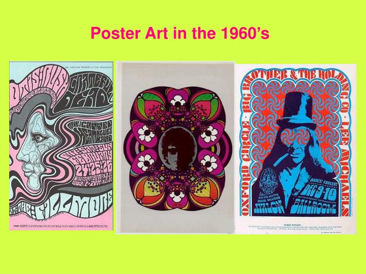 Poster Art in the 1960's