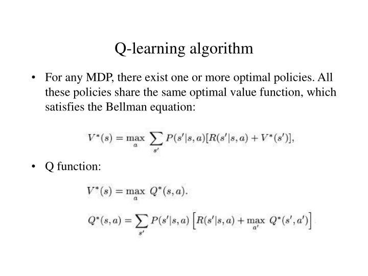 Q-learning algorithm