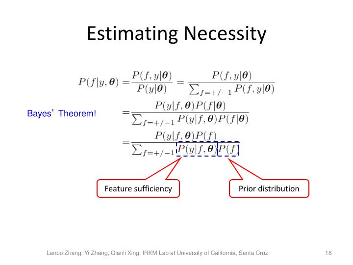 Estimating Necessity