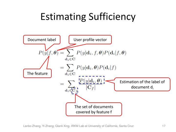 Estimating Sufficiency