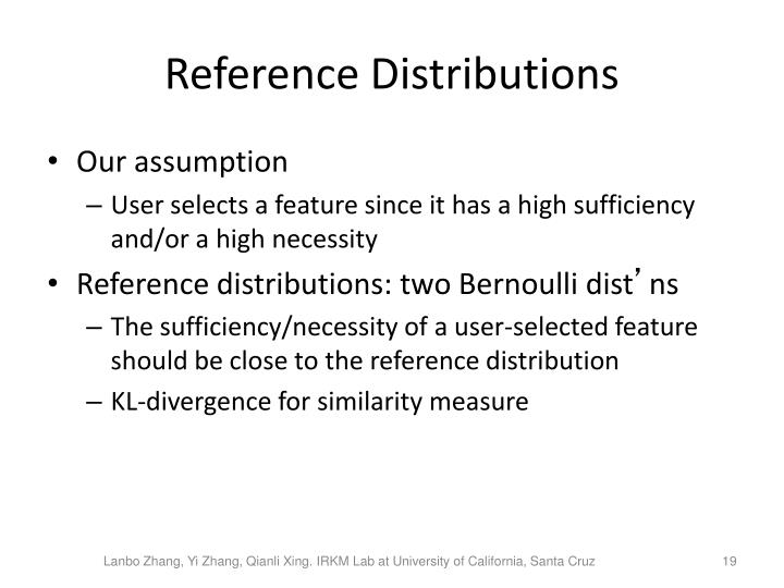 Reference Distributions