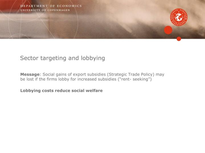 Sector targeting and lobbying