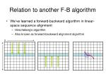 relation to another f b algorithm