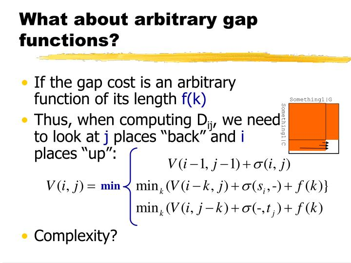 What about arbitrary gap functions?
