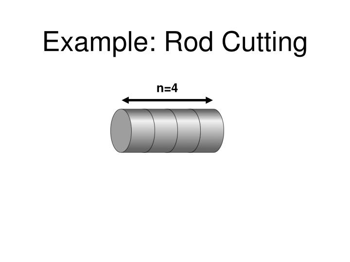 Example rod cutting