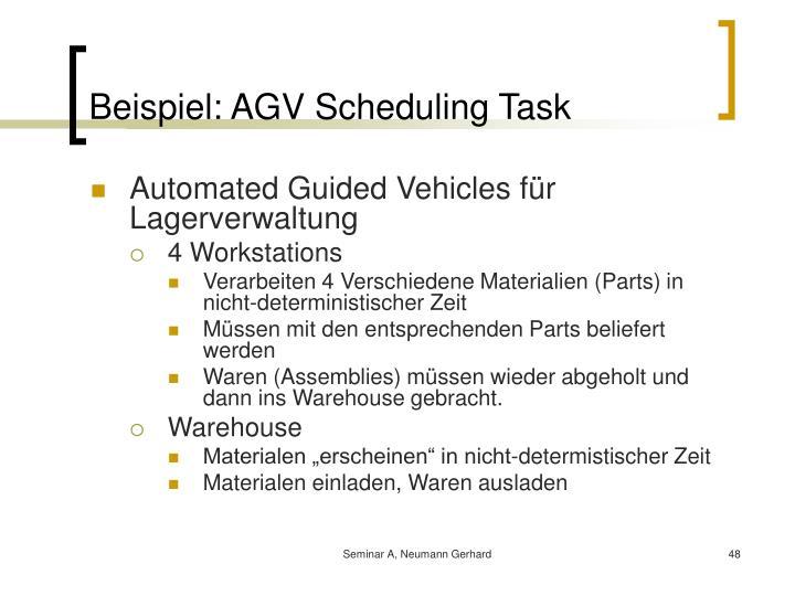 Beispiel: AGV Scheduling Task