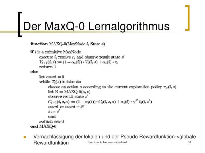 Der MaxQ-0 Lernalgorithmus