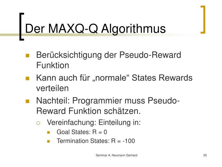 Der MAXQ-Q Algorithmus