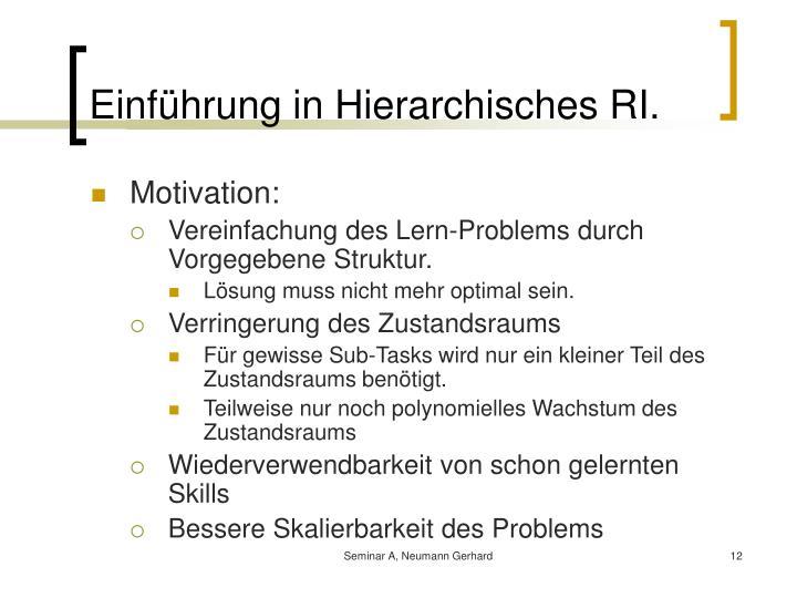 Einführung in Hierarchisches RI.