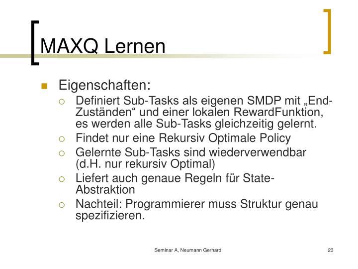 MAXQ Lernen