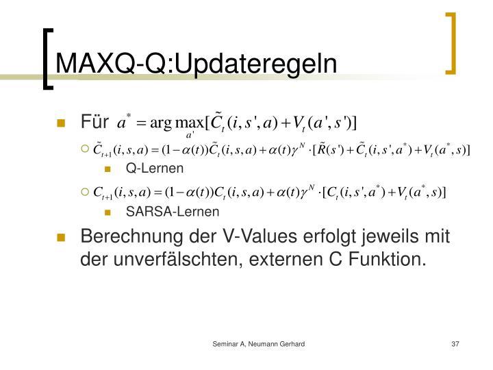 MAXQ-Q:Updateregeln