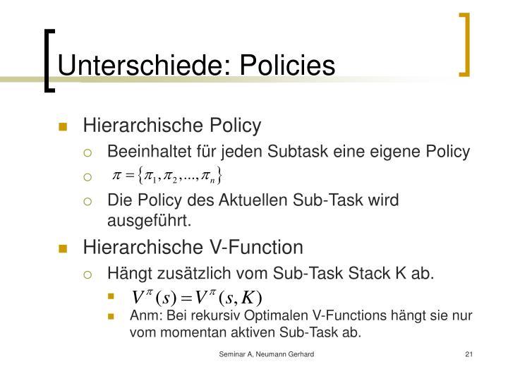 Unterschiede: Policies