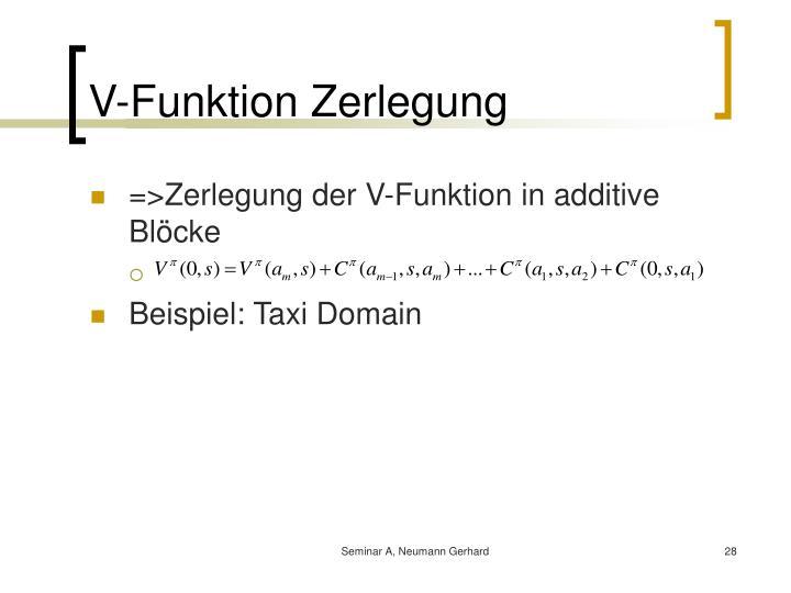 V-Funktion Zerlegung