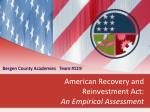 american recovery and reinvestment act an empirical assessment